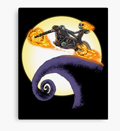 A Ride Before Christmas. Canvas Print