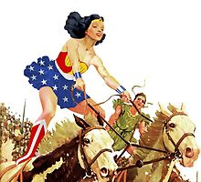 Wonder Woman on Horseback by TheWrightMan