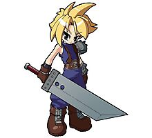 Final Fantasy VII - Cloud Strife Photographic Print