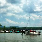 Sailboat at Dock Cold Springs NY by Susan Savad