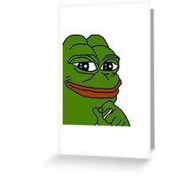 smug pepe / smug frog Greeting Card