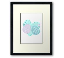 Pastel Brains in Love Framed Print