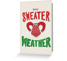 Happy Sweater Weather Greeting Card