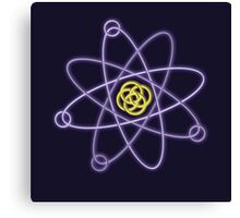 Gold - Silver Atomic Structure Canvas Print
