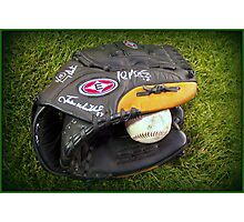 Ball and Glove Photographic Print