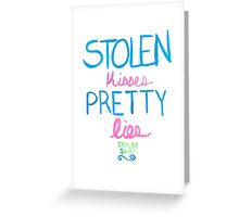 pretty lies Greeting Card