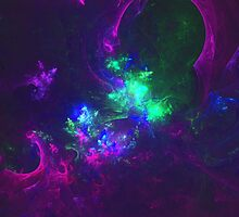 The Energy Surrounding A Cannabis User After Starting To Exhale His Second Puff | Fractal Starscape by SirDouglasFresh