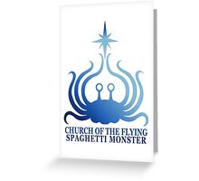 Church of the Flying Spaghetti Monster logo Greeting Card