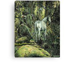 Unicorn & Pixies Canvas Print