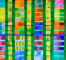 Coloured Fields With Bamboo by Heidi Capitaine