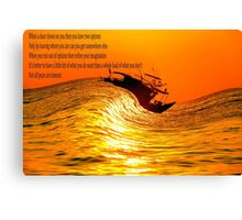 surfing boat Canvas Print
