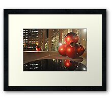 Francisco's Big X-Mas Ballz at Night, Reflected Framed Print