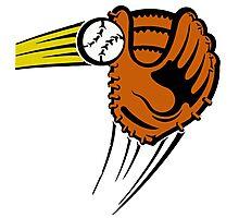 Mitt. Baseball glove. Photographic Print