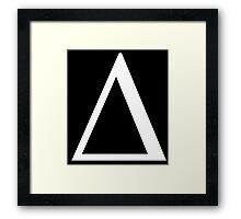 Delta. Greek alphabet. Framed Print