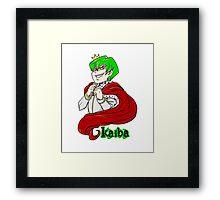 Kaiba green hair Yu-Gi-Oh! Framed Print