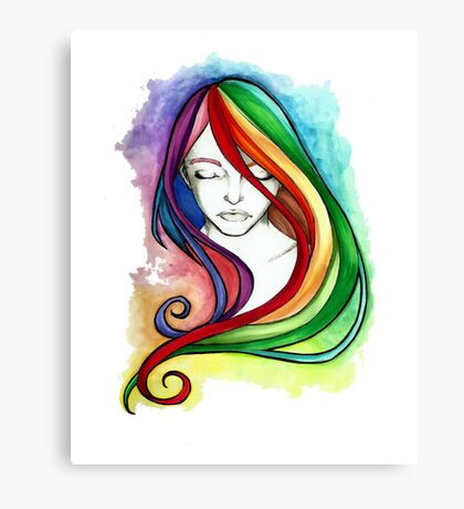 Coloured Hair Canvas Print