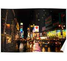 Time Square at Night Poster