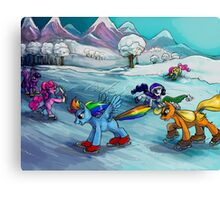 Ice skating! MLP Canvas Print