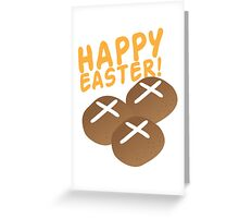 Hot cross buns HAPPY EASTER Greeting Card