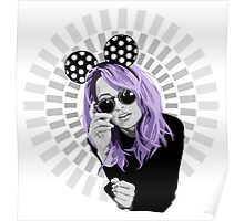 nicole richie in minnie mouse ears illustration Poster