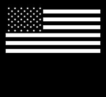 American Flag, STARS & STRIPES, USA, America, Americana, Funeral, Mourning, in Mourning, Black on Black by TOM HILL - Designer