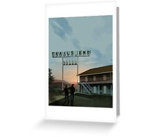 Trails End Greeting Card
