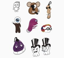 Mini Character Stickers by ea-photos