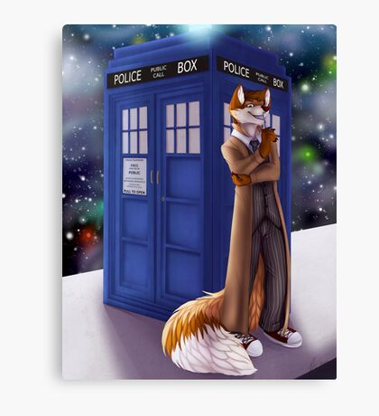 Dr. Who Fox Canvas Print