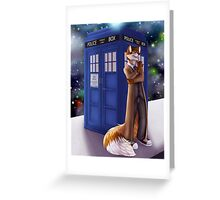 Dr. Who Fox Greeting Card