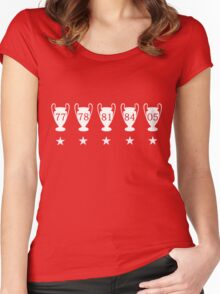 Liverpool FC Champions League Women's Fitted Scoop T-Shirt
