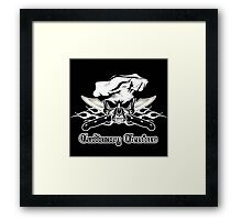 Chef Skull 12: Culinary Genius 3 white flames Framed Print
