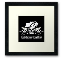 Chef Skull 13: Culinary Genius 3 white flames Framed Print