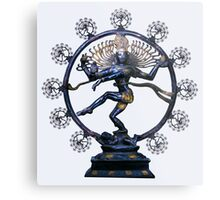 Shiva Nataraj, Lord of Dance (an actual factual fractal)  Metal Print