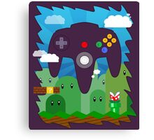 N64 LAND - CONTROLLER Canvas Print