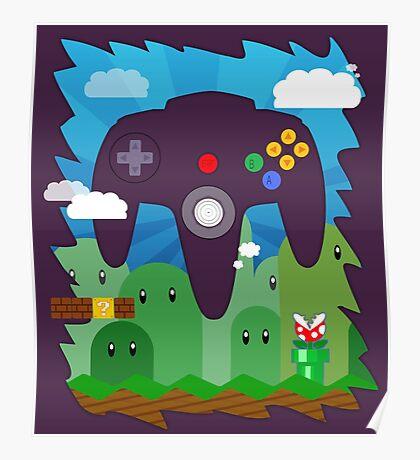 N64 LAND - CONTROLLER Poster