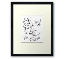 Don't Count Your Owls Harry Potter Quote Framed Print