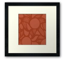 orb (orange) Framed Print