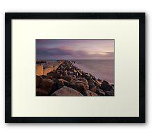 Jurrasic Sunset.  Framed Print