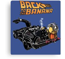 Back To The Banana v2 Canvas Print