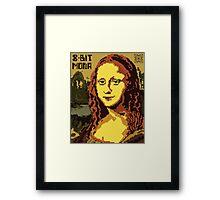 Mona Lisa Pixelated 8bit Framed Print