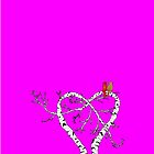 Sweet Love - iphone Case (hot pink) by Carol Knudsen