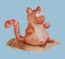 Fat Cat - Watercolour Baby Tee