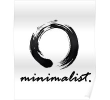 Minimalist (with enso) Poster