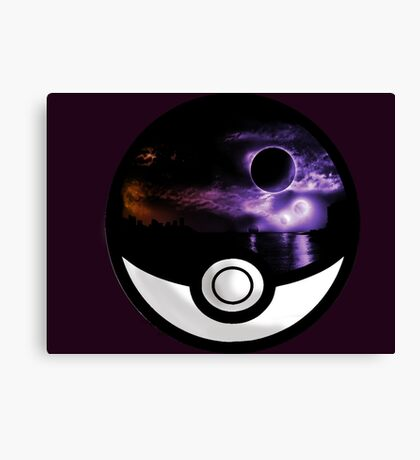 The World In A Pokeball Canvas Print