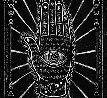 Hamsa Hand, Hand with Eye by ARTmuffin