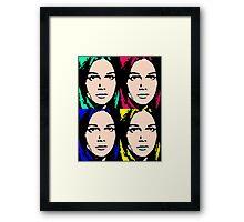 GIRL FRIDAY Framed Print
