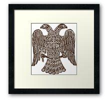 Byzantine eagle Framed Print