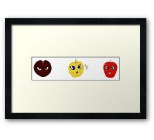 Anime apples Framed Print