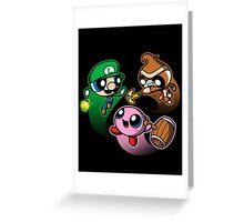 Super Puff Bros 3 Greeting Card