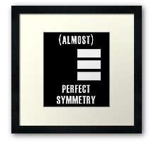 (Almost) Perfect Symmetry Framed Print